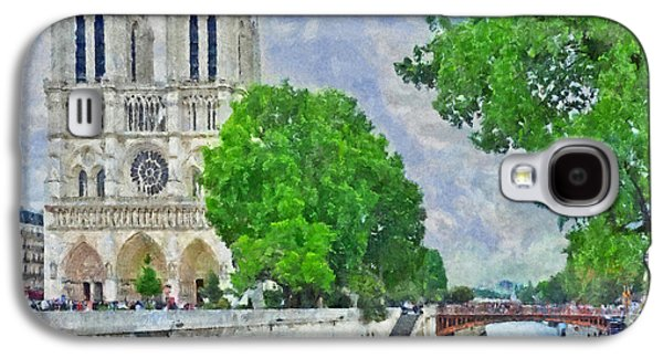 Notre Dame And The River Seine Galaxy S4 Case