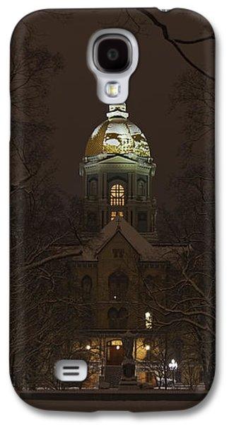Notre Dame Golden Dome Snow Galaxy S4 Case