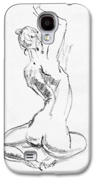 Nude Model Gesture V Galaxy S4 Case by Irina Sztukowski