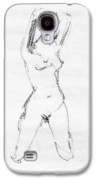 Nude Model Gesture Vii Galaxy S4 Case by Irina Sztukowski