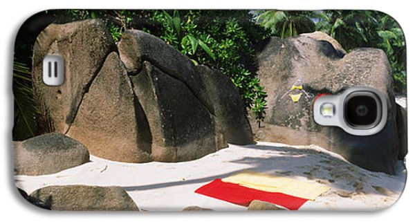 Nudist Corner Written On A Rock Galaxy S4 Case by Panoramic Images