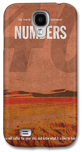 Numbers Books Of The Bible Series Old Testament Minimal Poster Art Number 4 Galaxy S4 Case