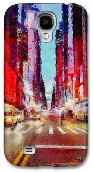 Nyc Fifth Ave Galaxy S4 Case by Janine Riley