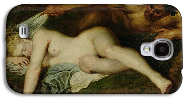Nymph And Satyr Galaxy S4 Case by Jean Antoine Watteau