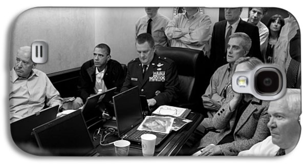 Obama In White House Situation Room Galaxy S4 Case