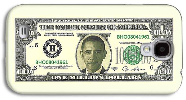 Obama Million Dollar Bill Galaxy S4 Case by Charles Robinson