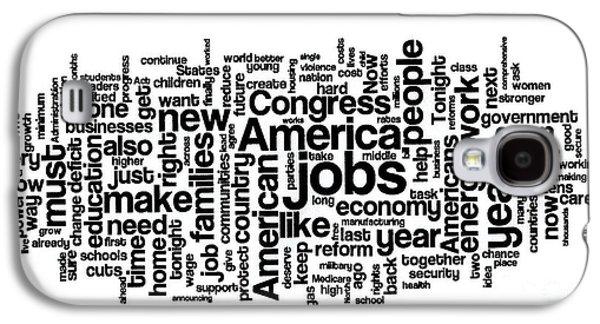 Obama State Of The Union Address - 2013 Galaxy S4 Case by David Bearden
