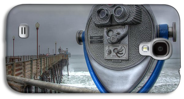 California Tourist Spots Galaxy S4 Cases - Oceanside Pier California Binocular Vision Galaxy S4 Case by Bob Christopher