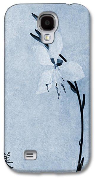 Oenothera Lindheimeri Cyanotype Galaxy S4 Case by John Edwards