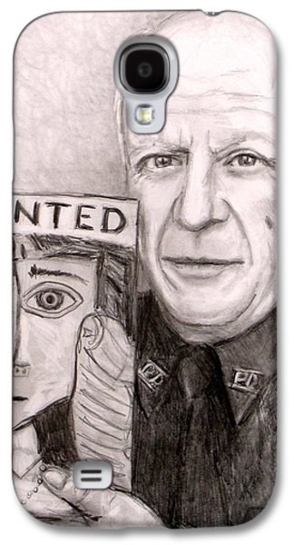 Officer Picasso Police Sketch Artist Galaxy S4 Case by Jack Skinner