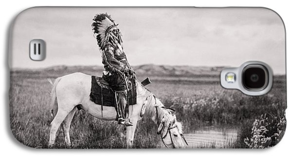 Horse Galaxy S4 Case - Oglala Indian Man Circa 1905 by Aged Pixel