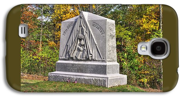 Ohio At Gettysburg - 29th Ohio Volunteer Infantry Autumn Mid-afternoon Culp's Hill Galaxy S4 Case by Michael Mazaika