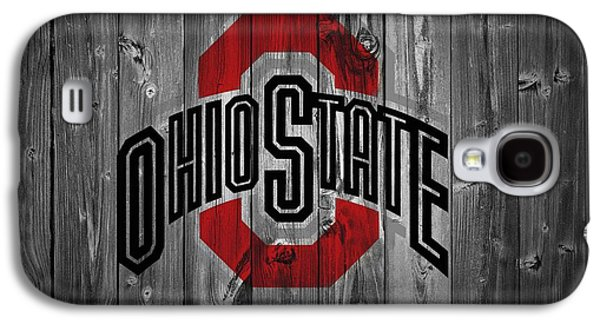 Basketball Galaxy S4 Case - Ohio State University by Dan Sproul