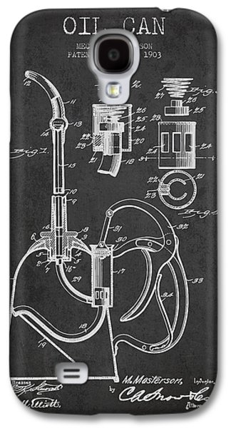 Oil Can Patent From 1903 - Dark Galaxy S4 Case