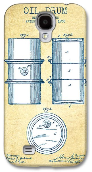 Drum Galaxy S4 Case - Oil Drum Patent Drawing From 1905 - Vintage Paper by Aged Pixel