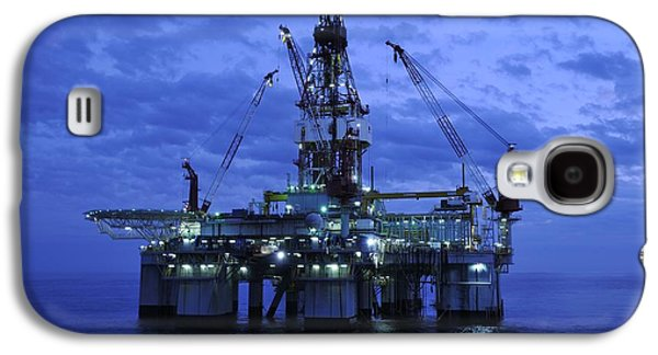 Oil Rig At Twilight Galaxy S4 Case