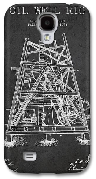 Oil Well Rig Patent From 1893 - Dark Galaxy S4 Case