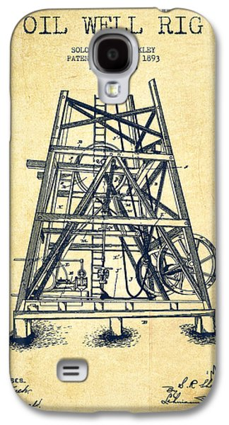 Oil Well Rig Patent From 1893 - Vintage Galaxy S4 Case
