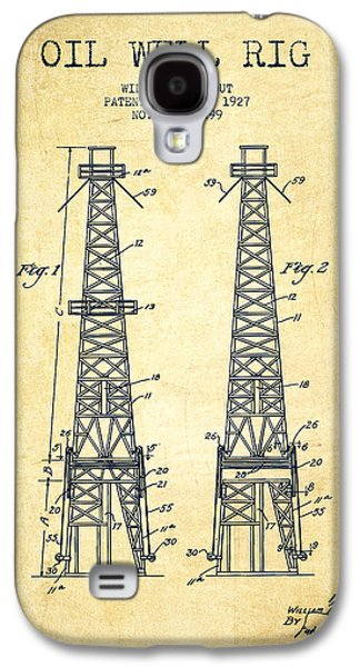 Oil Well Rig Patent From 1927 - Vintage Galaxy S4 Case by Aged Pixel