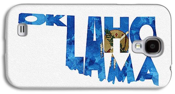 Oklahoma Typographic Map Flag Galaxy S4 Case