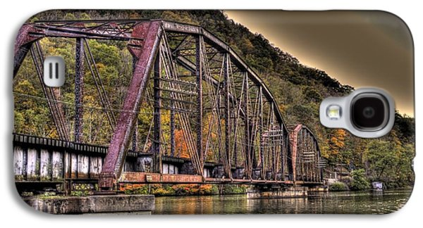 Galaxy S4 Case featuring the photograph Old Bridge Over Lake by Jonny D