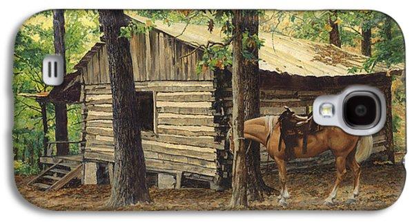 Log Cabin - Back View - At Big Creek Galaxy S4 Case