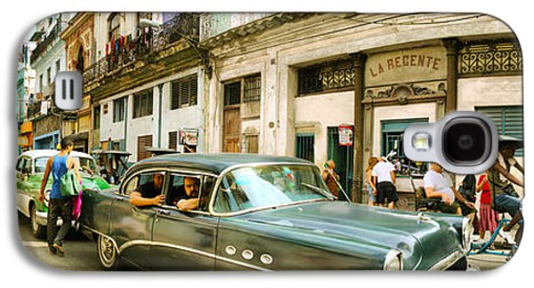 Old Cars On A Street, Havana, Cuba Galaxy S4 Case by Panoramic Images
