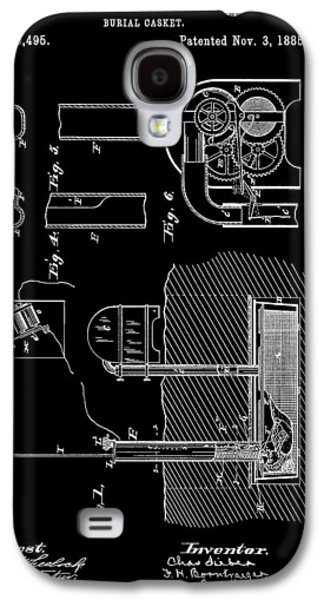 Old Casket Patent Galaxy S4 Case by Dan Sproul
