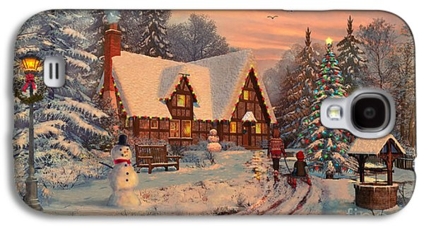 Old Christmas Cottage Galaxy S4 Case by Dominic Davison