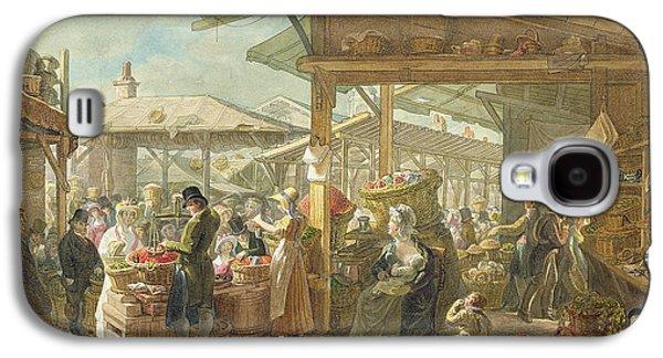 Old Covent Garden Market Galaxy S4 Case by George the Elder Scharf