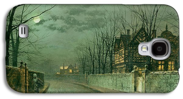 Old English House, Moonlight Galaxy S4 Case by John Atkinson Grimshaw