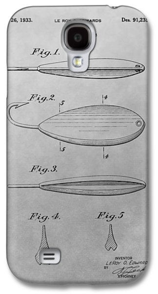 Old Fishing Lure Patent Drawing Galaxy S4 Case by Dan Sproul