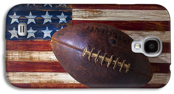 Old Football On American Flag Galaxy S4 Case