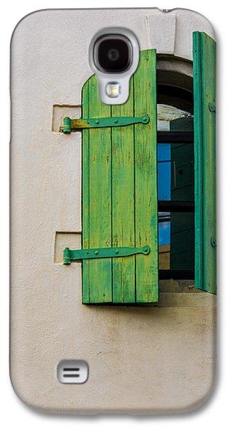 Old Green Shuttered Window Galaxy S4 Case