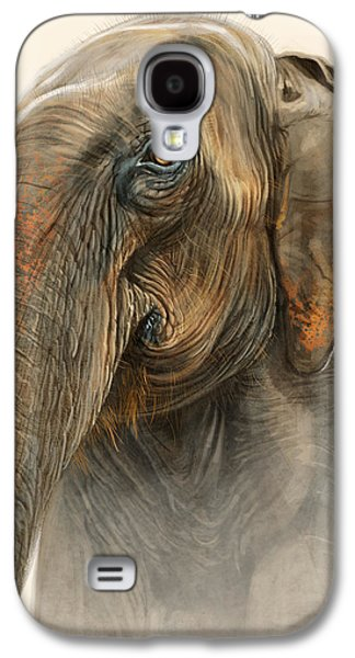 Old Lady Of Nepal 2 Galaxy S4 Case by Aaron Blaise