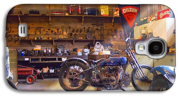 Old Motorcycle Shop 2 Galaxy S4 Case by Mike McGlothlen