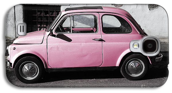 Old Pink Fiat 500 Galaxy S4 Case by Stefano Senise