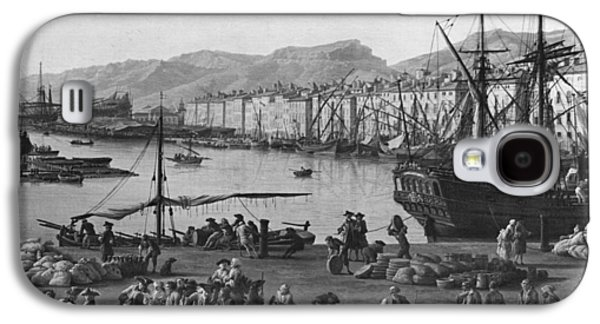 Old Port Of Toulon, Seen From The Quartermasters Stores, Series Of Les Ports De France, 1757 Galaxy S4 Case by Claude Joseph Vernet