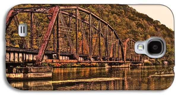 Galaxy S4 Case featuring the photograph Old Railroad Bridge With Sepia Tones by Jonny D