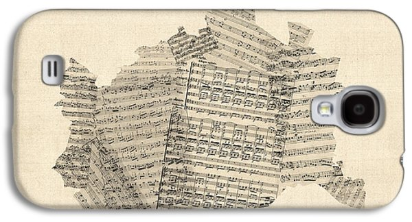 Old Sheet Music Map Of Vienna Austria Map Galaxy S4 Case