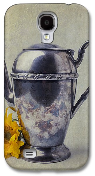 Sunflower Galaxy S4 Case - Old Teapot With Sunflower by Garry Gay