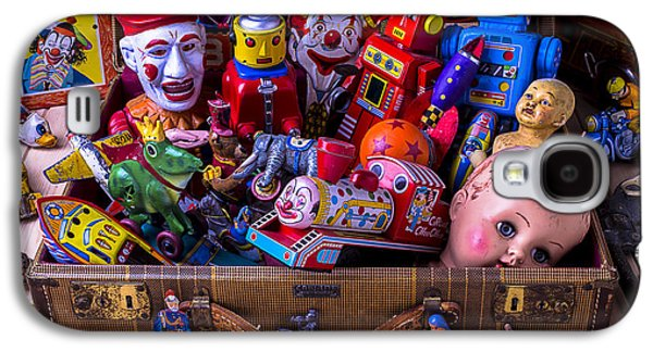 Old Toys In Suitcase Galaxy S4 Case by Garry Gay