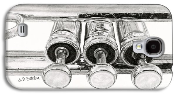 Trumpet Galaxy S4 Case - Old Trumpet Valves by Sarah Batalka