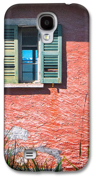 Galaxy S4 Case featuring the photograph Old Window With Reflection by Silvia Ganora
