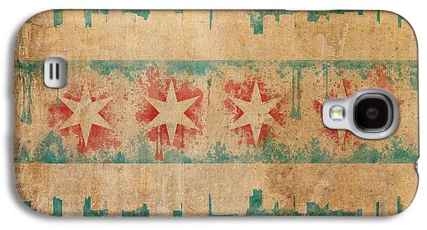 Old World Chicago Flag Galaxy S4 Case