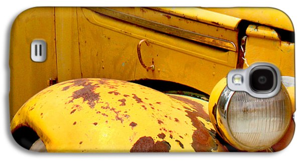 Transportation Galaxy S4 Case - Old Yellow Truck by Art Block Collections
