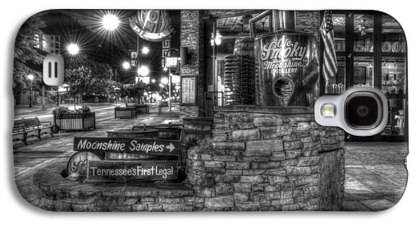 Ole Smoky Tennessee Moonshine In Black And White Galaxy S4 Case by Greg and Chrystal Mimbs