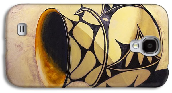 Pottery Paintings Galaxy S4 Cases - Olla de Santo Domingo Galaxy S4 Case by Jack Atkins