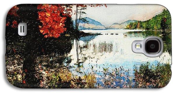 On Jordan Pond Galaxy S4 Case by Lianne Schneider