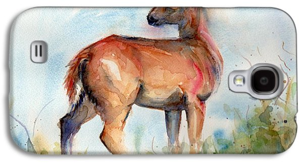 On Second Thought Galaxy S4 Case by Maria's Watercolor